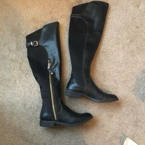 Kenneth Cole leather knee high boots